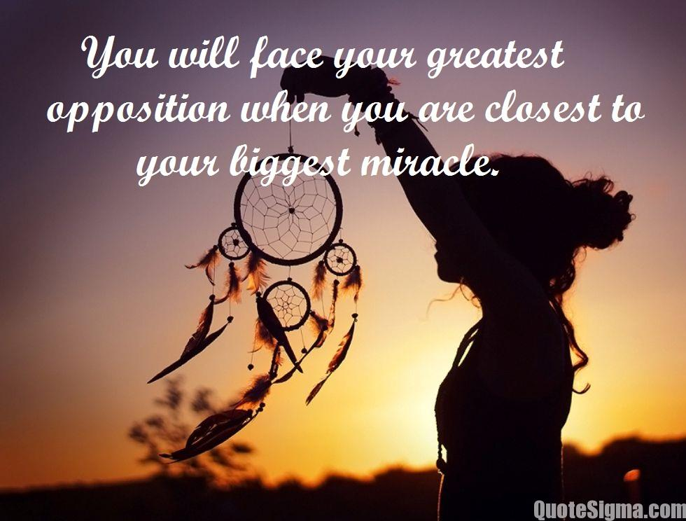 inspirational miracle quotes