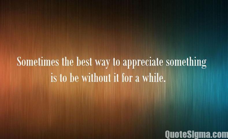 quotes on appreciation