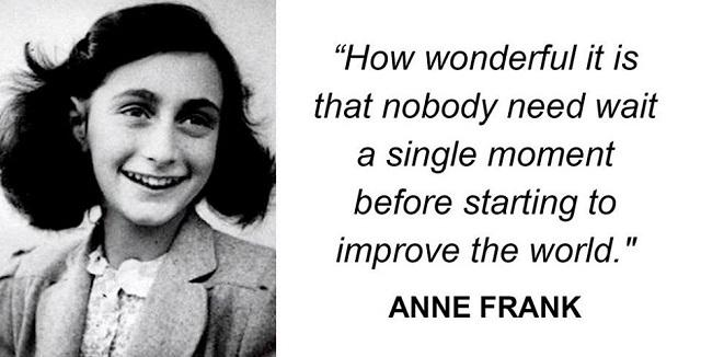 50 Inspirational Anne Frank quotes